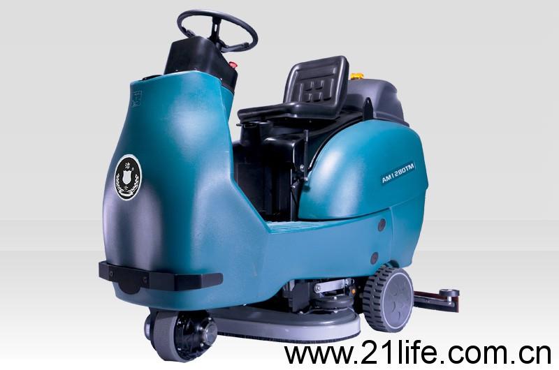 洁驰BA850BT双刷驾驶式洗地机(洁士AM1280TM大型电动双刷驾驶式洗地吸干机)(适用于工厂、超市、地下车库、医院、汽车站、火车站、高铁站、飞机场等)