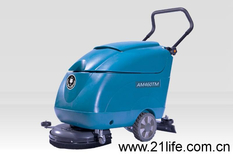 洁驰BA430BT电动手推式洗地机,洁士小型AM460TM电动手推式洗地吸干机