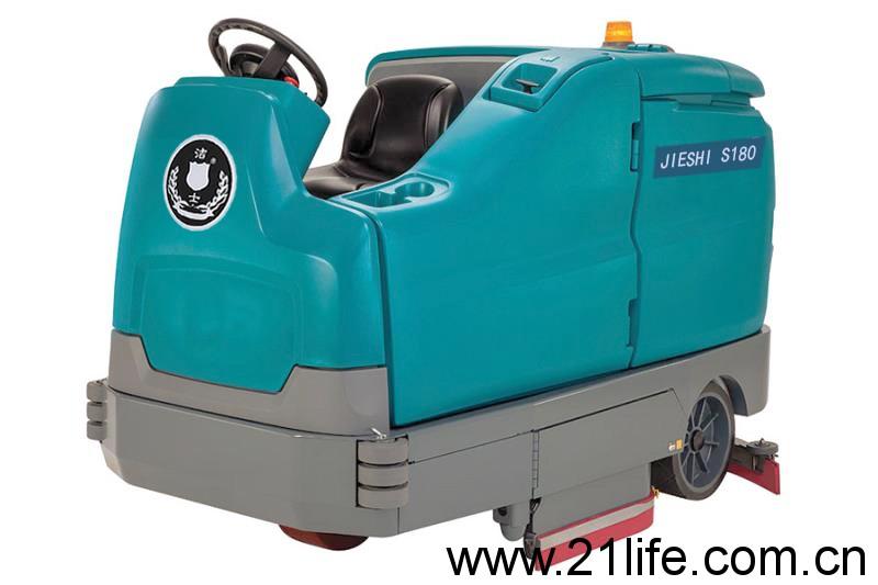 洁驰A17双刷驾驶式洗地机,洁驰M17双刷驾驶式洗地机(洁士S180超大型电动双刷驾驶式洗地吸干机)(适用于工厂、超市、地下车库、医院、汽车站、火车站、高铁站、飞机场等)