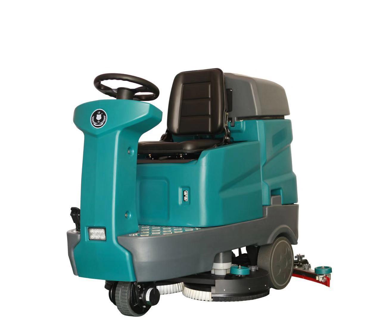 (洁士S40B小型电动双刷驾驶式洗地吸干机)(适用于工厂、超市、地下车库、医院、汽车站、火车站、高铁站、飞机场等)