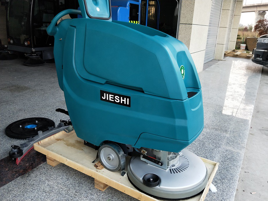 (洁士大型AM800TM电动手推式洗地吸干机)(适用于工厂、超市、地下车库、医院、汽车站、火车站、高铁站、飞机场等)
