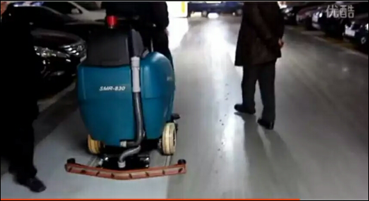 BA850BT双/BA900BT双刷驾驶式洗地机环氧油漆地面效果展示
