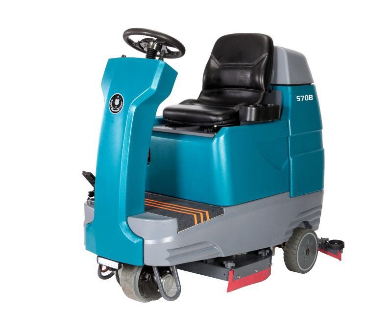 洁士S70B大型双刷驾驶式洗地机,电动双刷驾驶式洗地机,电动双刷驾驶式洗地车